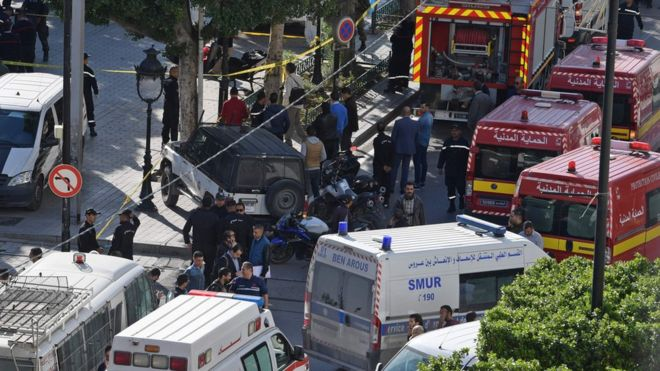 Avenue Habib Bourguiba Blast