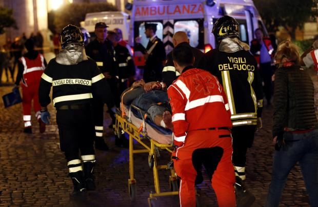 Rome escalator metro accident leaves Russian soccer fans hurt