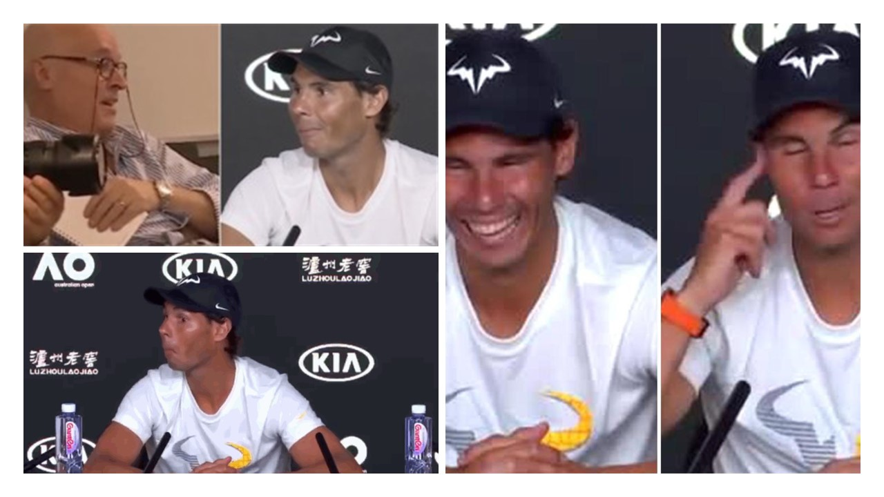 Rafael Nadal Catches Italian Journalist Nodding Off