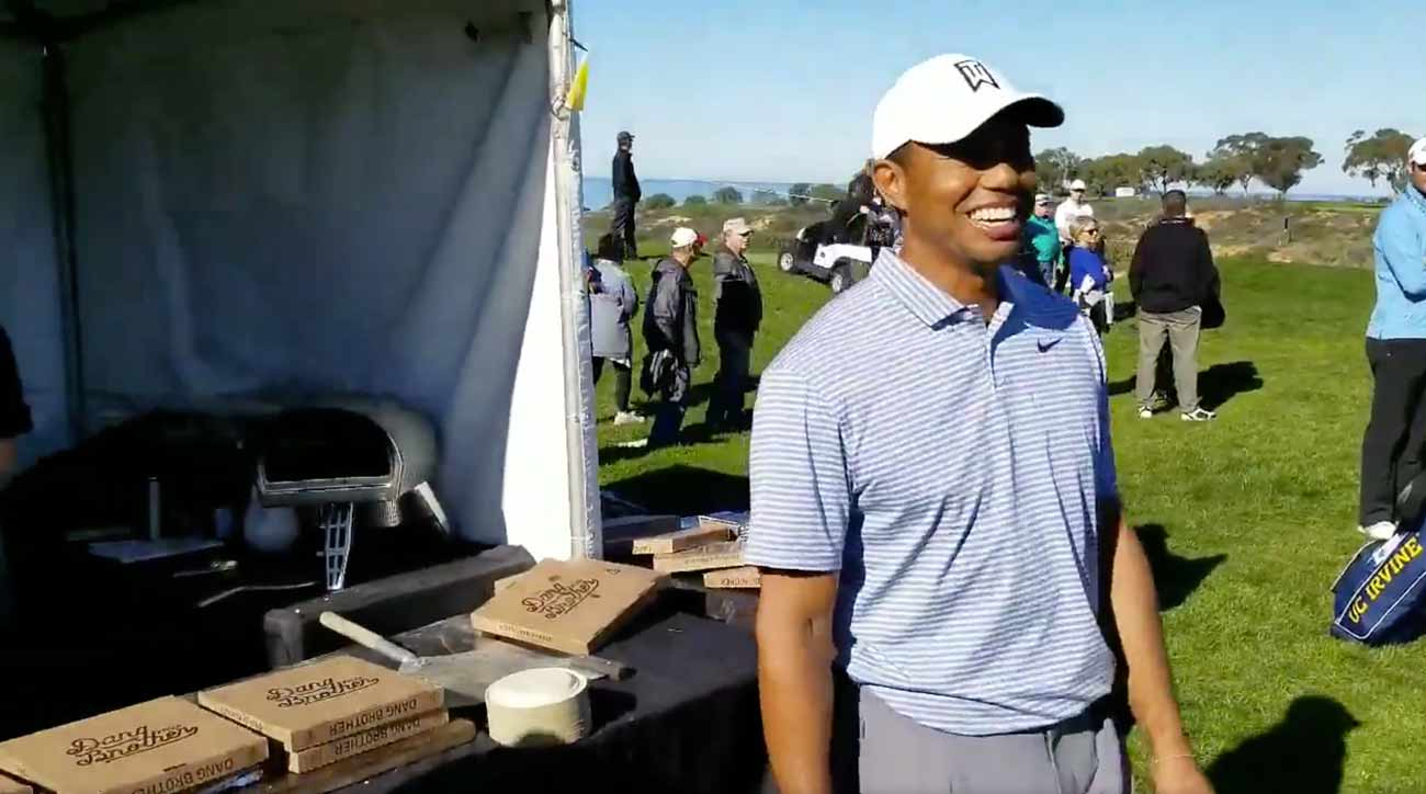 Tiger Woods Denied Pizza Slice at Farmers Insurance Pro-Am