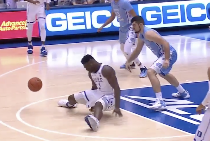 Zion Williamson's Nike Shoe Explodes