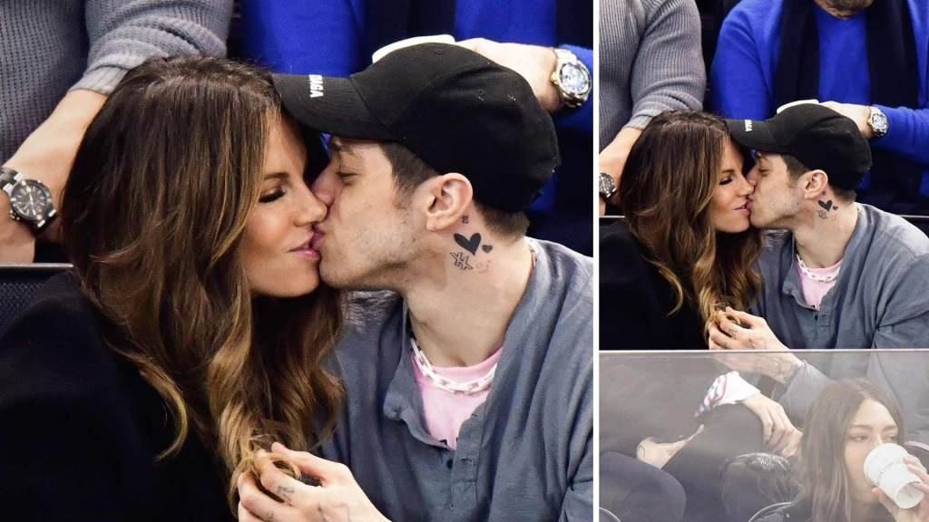 Pete Davidson & Kate Beckinsale Caught Smooching | Hockey Game Nights Become Hotter!