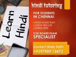 Hindi Tutoring Chennai