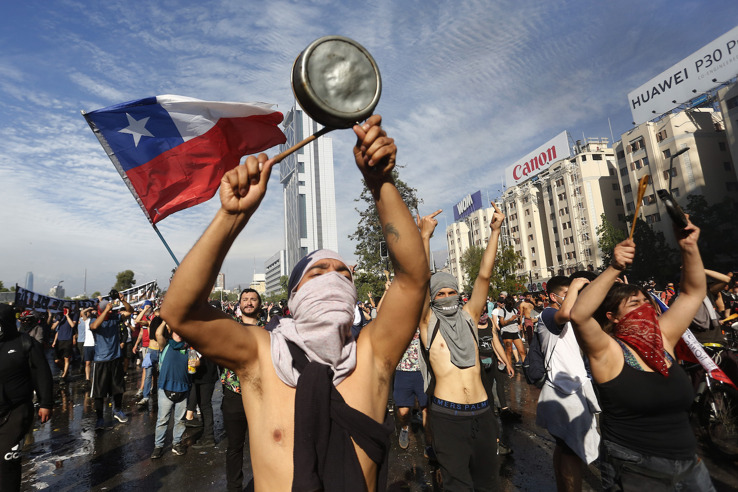 Chile Protests Turns Violent