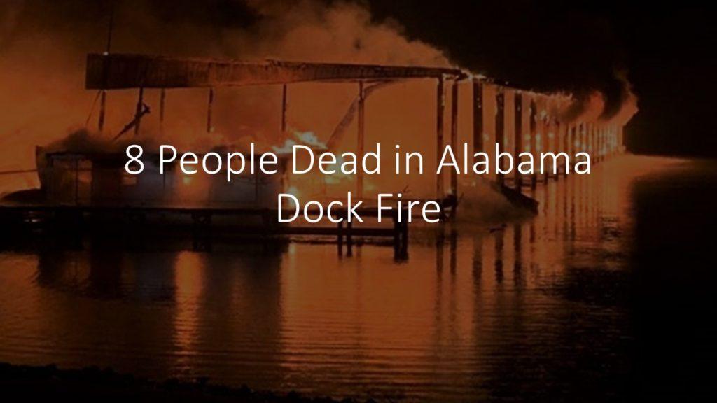 Massive Fire in a Boat Dock in Jackson County