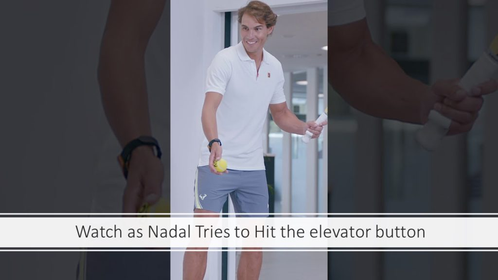 Rafael Nadal Hit it Challenge Featuring Elevator