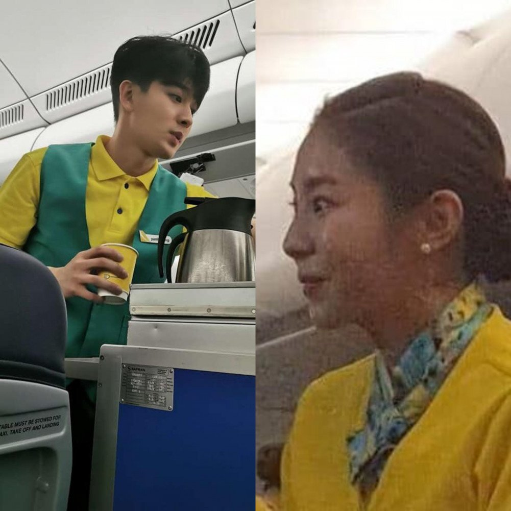 UEE and iKON's Song Yun Hyeon Working as Flight Attendants