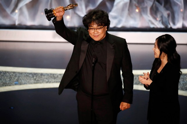 Bong Joon Ho Accepts the Oscar for Best Director Parasite Movie