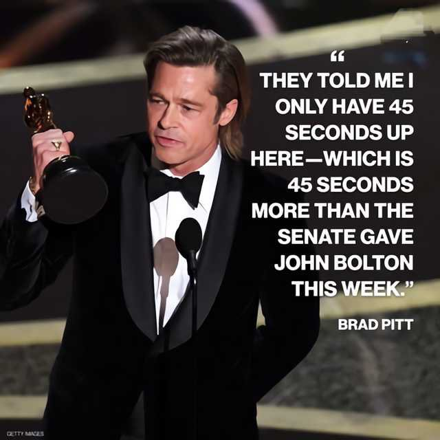 Brad Pitt's 45 Second Acceptance Speech