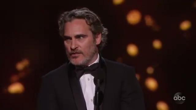 Joaquin Phoenix Wins Best Actor for his work in Joker