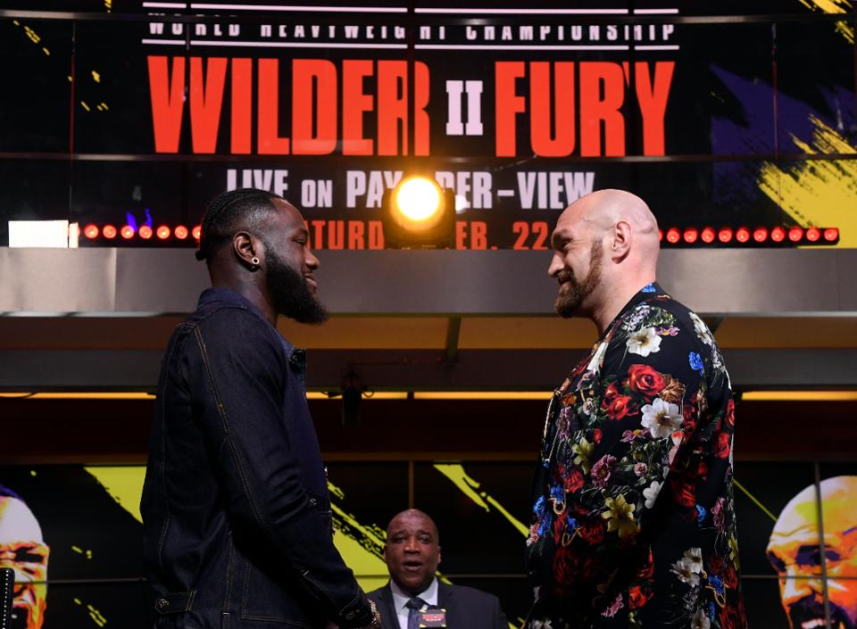 Tyson Fury and Deontay Wilder Watching Each Other