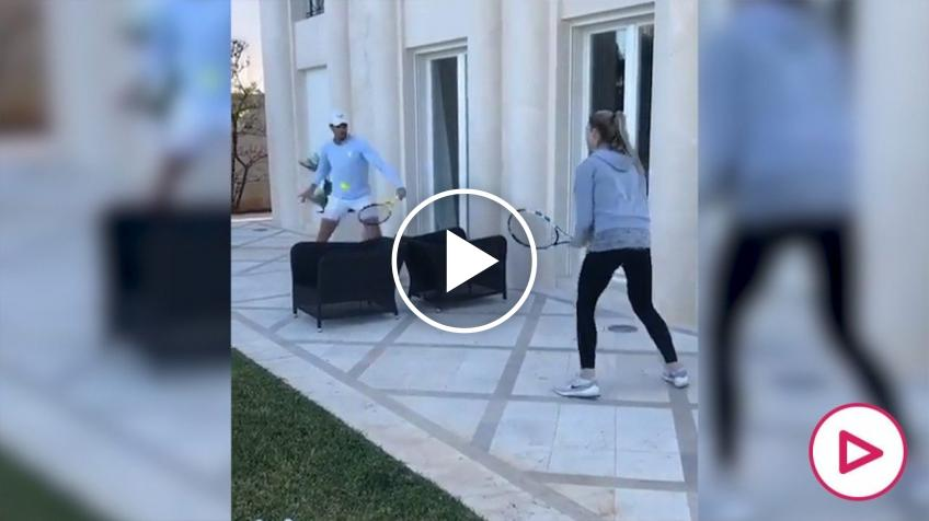 Do You Know How Rafa and his sister Maribel Play Tennis at Home