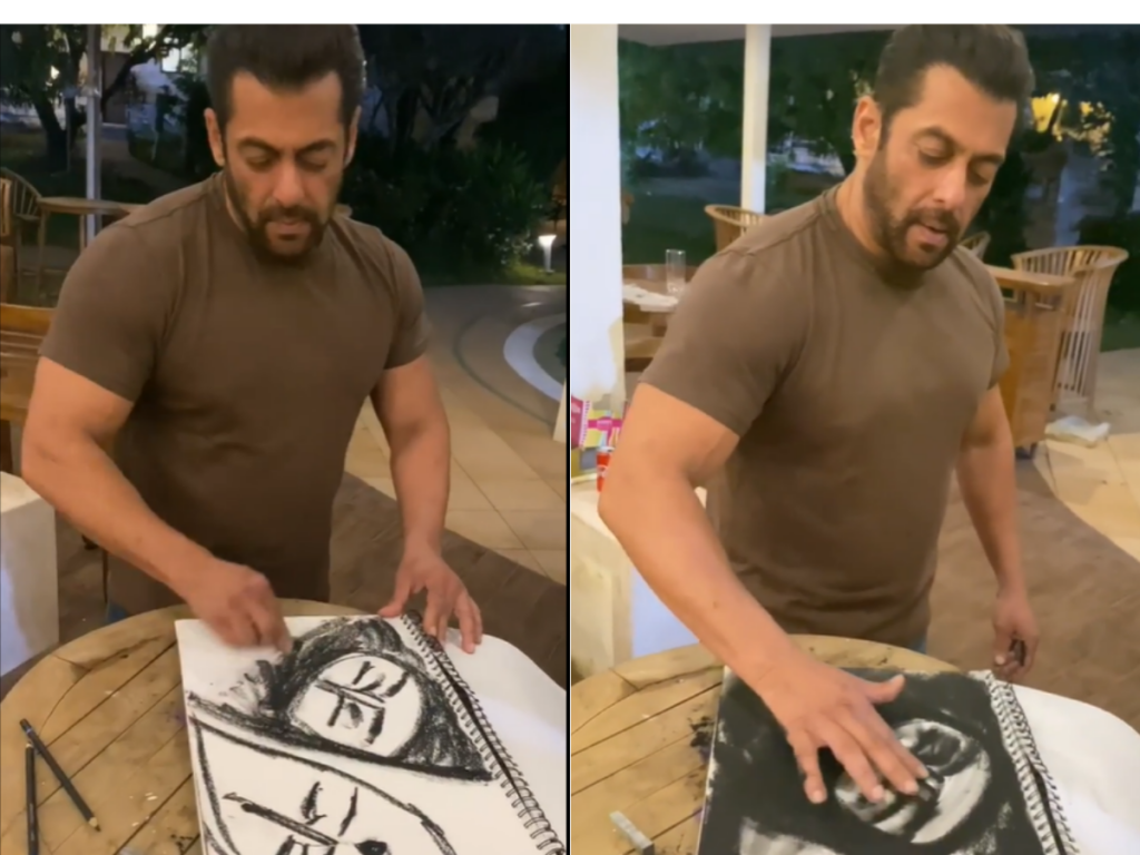 Salman Khan Charcoal Sketching