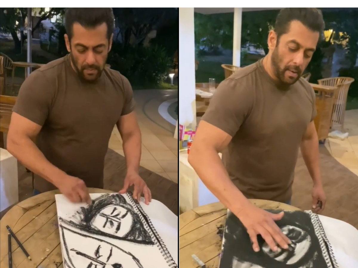 Salman Khan Charcoal Sketching