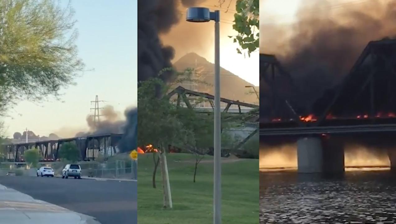 Live Updates Major train crash and bridge collapse in Arizona