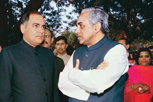 Swamy and Rajiv Gandhi