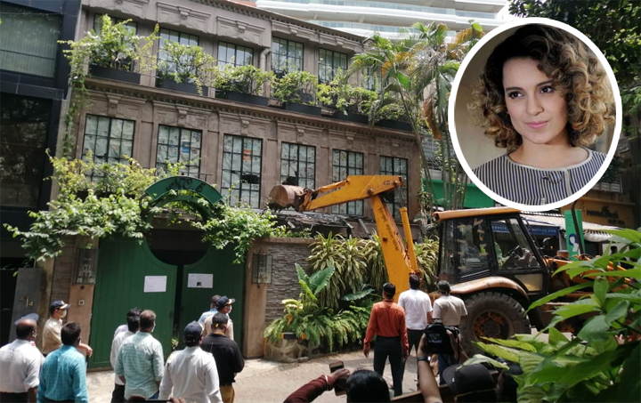 Bollywood Actress Kangana Ranaut's Bandra House Demolished