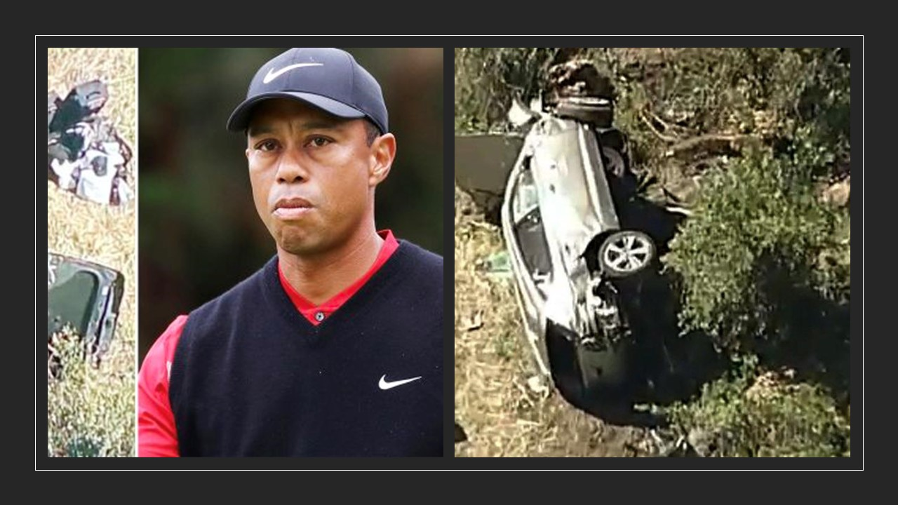 Tiger Woods Crashes in his SUV and is in surgery after suffering leg injuries