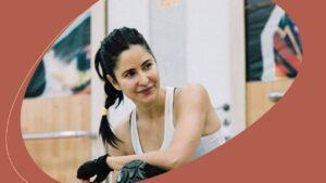 Actress Katrina Kaif is back into her exercise routine