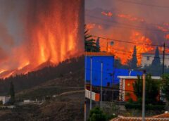 Volcano gushes out lava on Spain's La Palma island